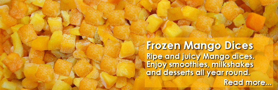 Frozen Mango Dices and Chunks