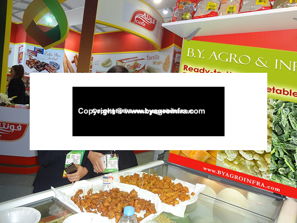 Tasting recipes made using products by B.Y. Agro & Infra at Gulfood 2015